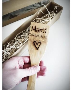 Vareška s textom: Mami - Ďakujem, že si.